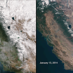 Drought in California - Image comparison by NASA