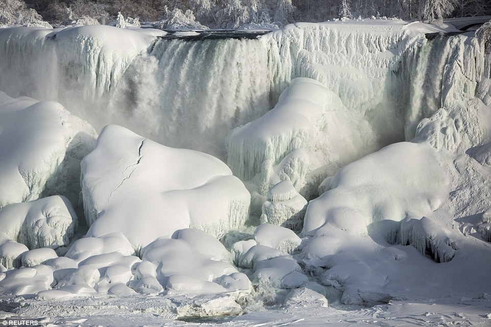Niagara Falls froze this year.