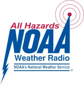 A built in NOAA Weather Radio will keep you informed during severe weather.