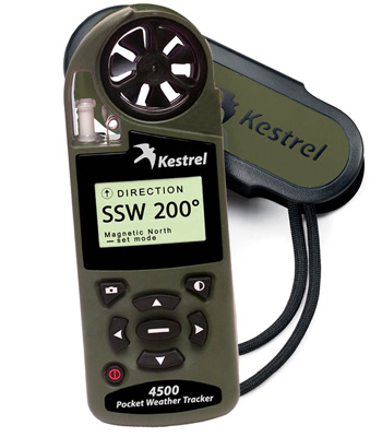 Kestrel 4500 - for those involved in weather forecasting, construction of road and buildings, rescue services, rescue workers, pilots of small aircraft, hunters, sailors, and many others.