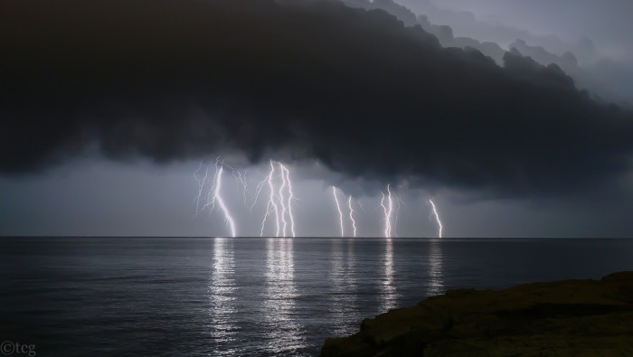 When a thunderstorm occurs lightning also exists.
