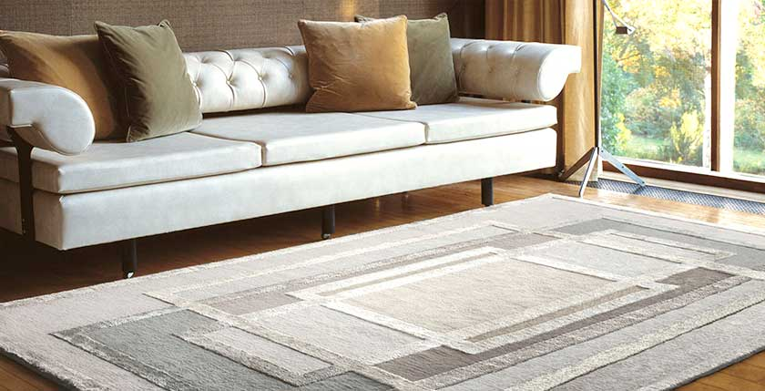 cozy sofa with area rug