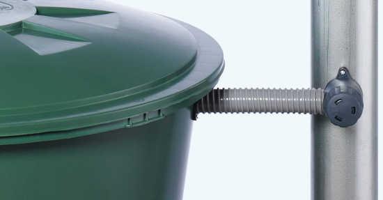 Rain barrel diverter