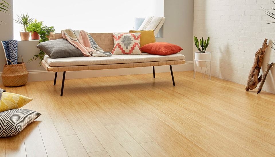 natural strand bamboo floor used in living room