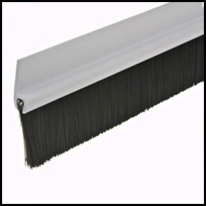 brush door sweeper with aluminum frame