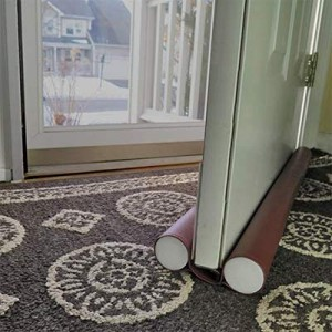 jumbo double sided draft guard used over a carpet