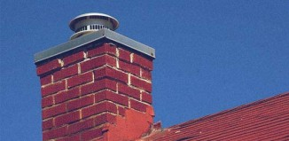 chimney with mounted cap