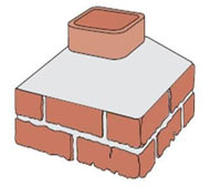 extended single flue chimney illustration