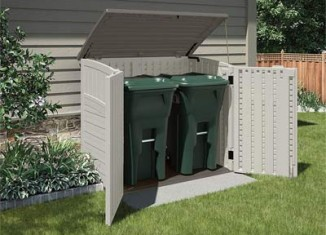 horizontal plastic garbage can shed 2019