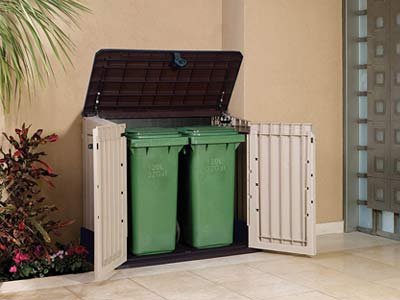 9 Garbage Can Storage Sheds For Enclosing Your Trash Outside