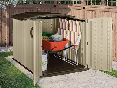 slide lid garbage storage shed