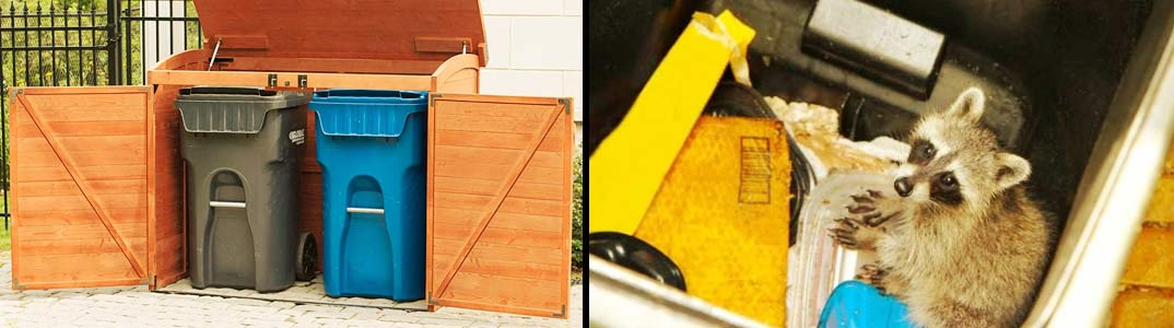storage shed for trash cans protection