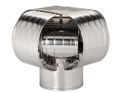 stainless steel variant of the wind blocking chimney cap