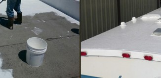 roof and rv treated with liquid rubber paint