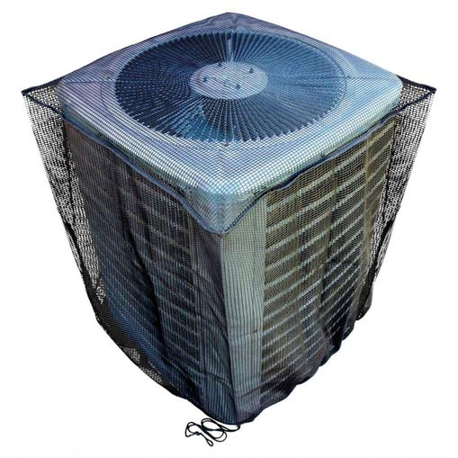 ac covered with mesh gurad